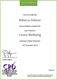 Canine Wellbeing Certified